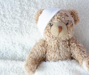 Kuscheltier im Kinderkrankenhaus