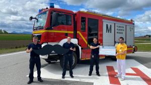 Besondere Spendenübergabe der Flughafenfeuerwehr München